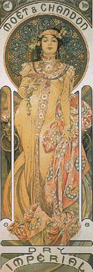 Moet and Chandon Dry Imperial 1899 - Alphonse Mucha