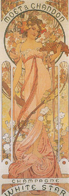 Moet and Chandon Champagne White Star 1899 - Alphonse Mucha