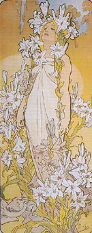 Lily 1898 - Alphonse Mucha