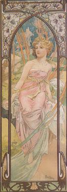 Awake in the Morning 1899 - Alphonse Mucha
