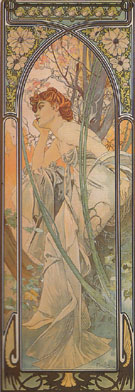 Evening Reverie 1899 - Alphonse Mucha