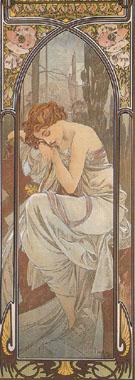 Nightly Rest 1899 - Alphonse Mucha
