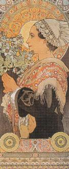 Sea Holly 1902 - Alphonse Mucha
