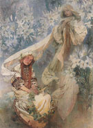 Madonna of the Lilies 1905 - Alphonse Mucha