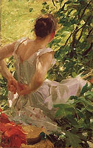 Woman Dressing 1893 - Anders Zorn