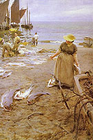 Fiskmarknad I St Ives - Anders Zorn