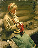Girl from Dalecarlia Knitting - Anders Zorn