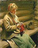 Girl from Dalecarlia Knitting - Anders Zorn