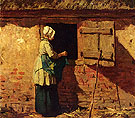 A Peasant Woman by a Barn - Anton Mauve