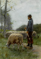 A Shepherd and His Flock - Anton Mauve
