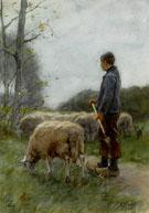 A Shepherd and His Flock - Anton Mauve
