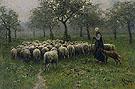 Herderin Met Kudde Schapen - Anton Mauve