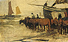Towing into Sea of a Fishing Boat - Anton Mauve