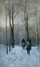 Riders in the Snow of the Woodsat The Hague - Anton Mauve