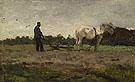 Plowing c1885 - Anton Mauve