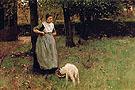 Woman with Kid in Laren - Anton Mauve