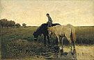 Watering Horses 1871 - Anton Mauve