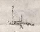 Fishing Boats on the Beach in Winter - Anton Mauve