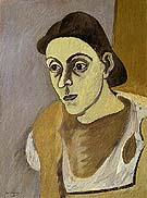 Portrait of Vartoost c1933 - Arshile Gorky