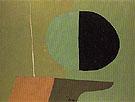 Flagpole Apple Tree and Garden 1943 - Arthur Dove