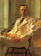 Man with the Cat Henry Sturgis Drinker 1898 - Cecilia Beaux