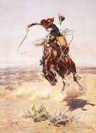 A Bad Hoss 1904 - Charles M Russell