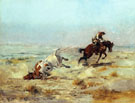 Lassoing A Steer 1897 - Charles M Russell