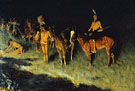 The Grass Fire 1908 - Frederic Remington