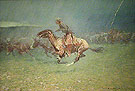 The Stampede by Lightning 1908 - Frederic Remington