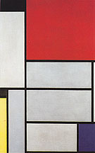 Composition with Black Red Gray Yellow and Blue 1921 - Piet Mondrian