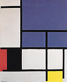 Composition with a Large Blue Plane Red Black Yellow and Gray 1921 - Piet Mondrian