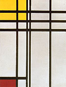 Opposition of Lines of Red and Yellow No I 1937 - Piet Mondrian