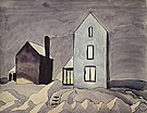 Two Houses 1920 - Charles Burchfield