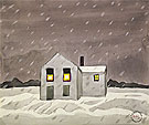Its Snowing 1920 - Charles Burchfield