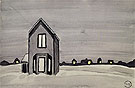 Gray House 1920 - Charles Burchfield