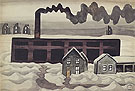 Factory and Houses 1920 - Charles Burchfield