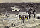 Cloud and Lonely Farmhouse 1920 - Charles Burchfield