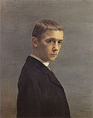 Self Portrait at the Age of Twenty 1885 - Felix Vallotton