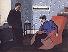 Interior Red Armchair and Figures 1899 - Felix Vallotton