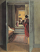 Interior with Woman in Red from Behind 1903 - Felix Vallotton