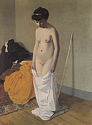 Naked Woman Holding Her Shirt with Both Hands 1904 - Felix Vallotton