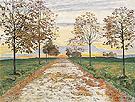 Fall Evening 1892 - Ferdinand Hodler