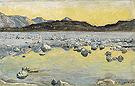 Maggia Delta Before Sunrise 1893 - Ferdinand Hodler
