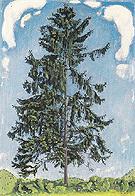 Fire Tree near Chamby 1905 - Ferdinand Hodler
