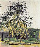 Trees in the Studio Garden 1917 - Ferdinand Hodler