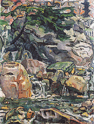 Alpine Brook near Beatenberg 1910 - Ferdinand Hodler