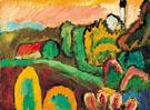 View with Church 1910 - Gabriele Munter