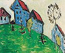 Villas on the Hill c1911 - Gabriele Munter