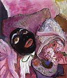 Black Mask with Rose 1912 - Gabriele Munter