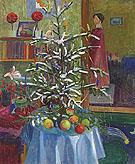 Interieur mit Weihnachtsbaum - Gabriele Munter